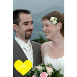 remerciements mariage /  un coeur coloré