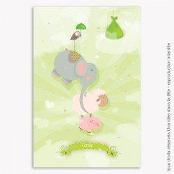 Faire Part Naissance Mademoiselle G. / les animaux / mixte