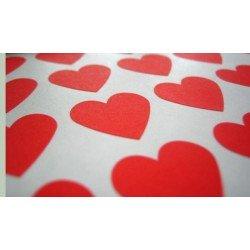 mini stickers coeurs / rouge