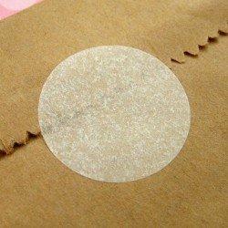 """Stickers ronds """"glassine"""" / gommettes rondes papier cristal"""