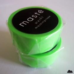 Masté / mini masking tape / uni / vert fluo