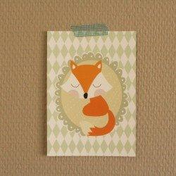 Carte postale Animaux de la forêt / renard