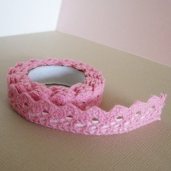 lace tape / rose barbapapa