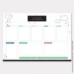 DIY : les menus de la semaine nuage ou comment organiser sa miam-semaine