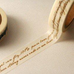 masking tape écriture italique / beige