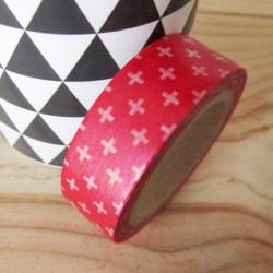 masking tape petites croix / rouge