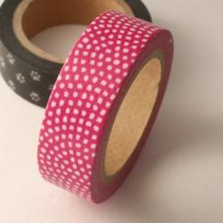 masking tape petits pois / rose