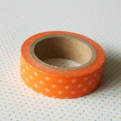 masking tape pois / orange