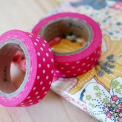 masking tape pois / rose fuschia