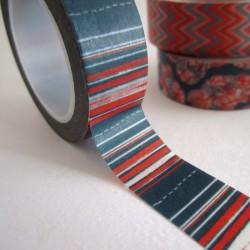 masking tape rayures / bleu / rouge