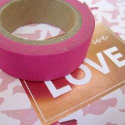 Masking Tape uni - rose fuschia