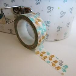 masking tape vélo / orange / bleu