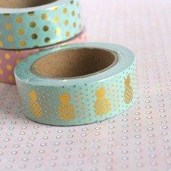 masking tape foil ananas / mint