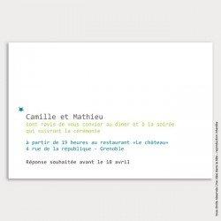 Invitation mariage / étoile / bleu