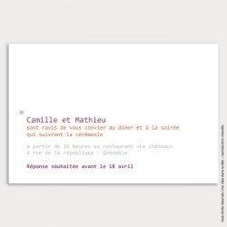 invitation mariage / étoile / violet