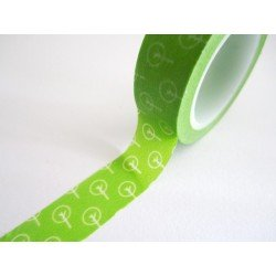 masking tape arbres stylisés / vert