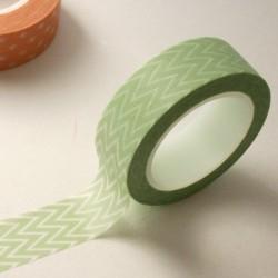 masking tape chevrons fins / mint
