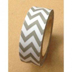 Masking Tape chevrons / gris
