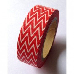Masking Tape chevrons fins - rouge
