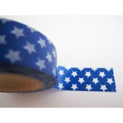 masking tape étoiles / bleu et blanc
