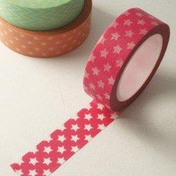 masking tape étoiles / rose