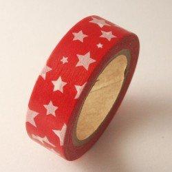 Masking Tape étoiles / rouge et blanc