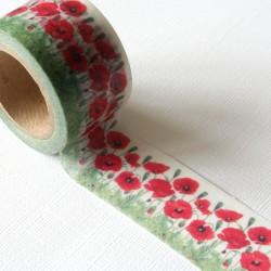 masking tape large / coquelicots