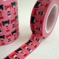 masking tape kokeshi / rose