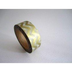 masking tape métallisé / chevrons / or