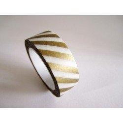 masking tape métallisé / rayures / or