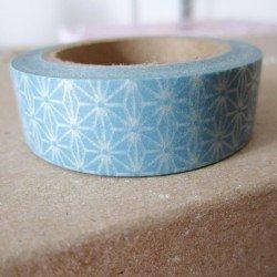 masking tape origami - bleu clair