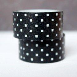 masking tape mini carré / noir