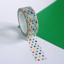 masking tape pois / multicolore