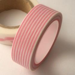 Masking Tape rayures - rose