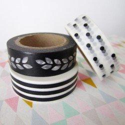 masking tape trio / noir et blanc