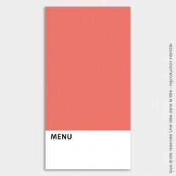 menu mariage vertical / like Pantone