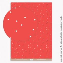 papiers scrapbooking petits pois / rouge