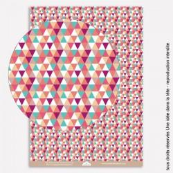 """papiers scrapbooking """"été indien"""" / petits triangles / multicolore"""