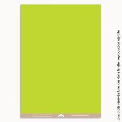 papiers scrapbooking uni / vert pomme