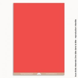 papiers scrapbooking uni / rouge corail