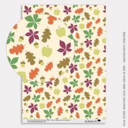 Papier Scrapbooking couleurs d'automne / feuilles d'automne