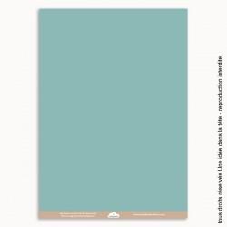 papier scrapbooking uni / bleu moyen