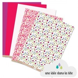 papiers scrapbooking collection : Liberty rose