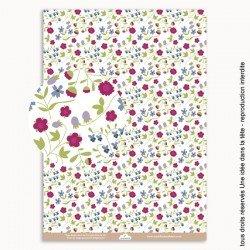 papier scrapbooking Liberty fraises / rose
