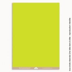 papier scrapbooking uni / vert anis