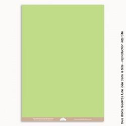 papier scrapbooking uni / vert amande