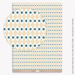 Papier Scrapbooking  Noel bleu / géométrique