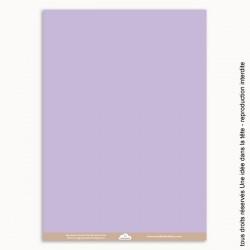 papiers scrapbooking uni / mauve pastel