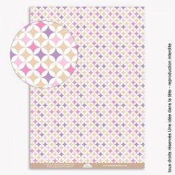 papiers scrapbooking pop / rose