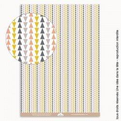 papiers scrapbooking triangles / couleurs rétro